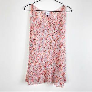 🇬🇧 CAbi Bella Chiffon Floral Layered Top #5032